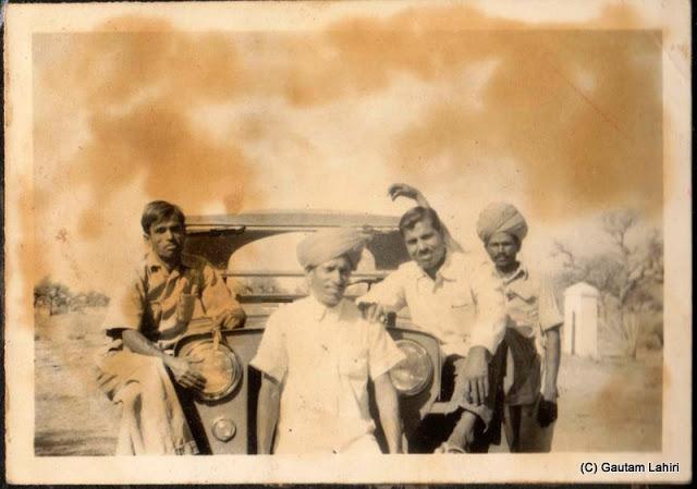 The Kishangarh, Rajasthan, India villagers around the Jeep CJ-3B by Gautam Lahiri
