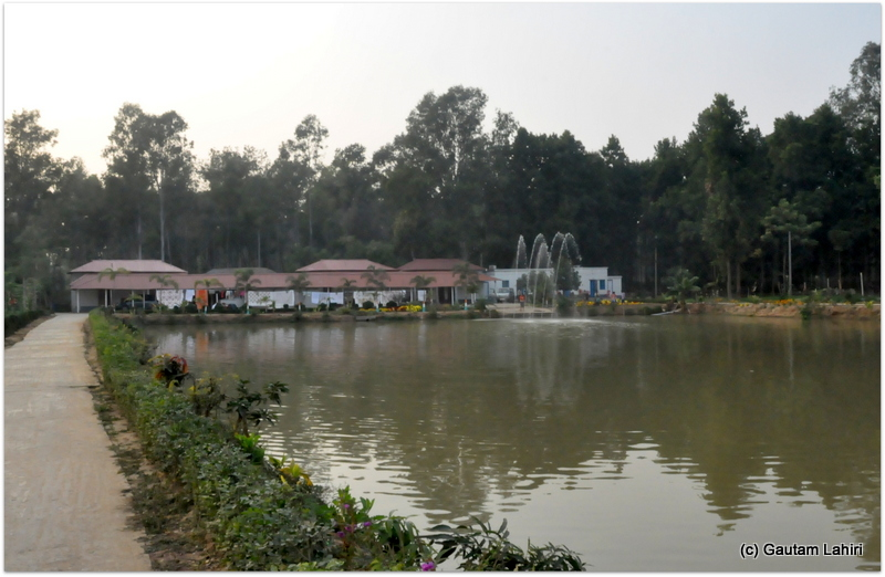 A man-made lake took the center stage in the middle of the resort at Joypur forest, Bankura by Gautam Lahiri