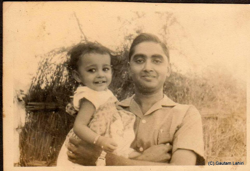 Krishnan, a geologist, a pilot holds my sister when he joined my father's team as a junior geologist. He helped accomplish my father's dream to be at the controls of an aircraft and fly over his own residence at two hundred fifty feet at Nagpur, India by Gautam Lahiri