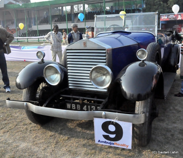 1926 Rolls Royce Silver Ghost with her 40/50 HP, around 7.5-liter six-cylinder engine was whispering as she started...I could hardly hear her purring  at Kolkata, West Bengal, India by Gautam Lahiri