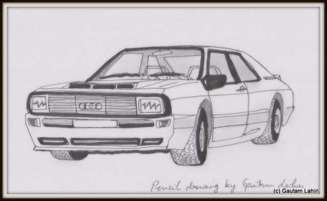 Audi Quattro Sport, drawn by Gautam Lahiri