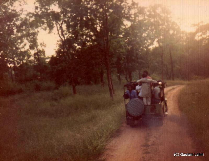 In the afternoon, we drove in the Jeep into the Betla forest reserve at Jharkhand, India by Gautam Lahiri