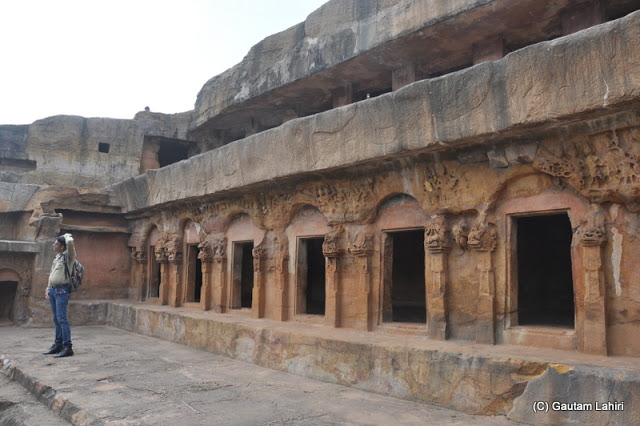 Each room or chamber had partitions and what we learned acted like motels for traveling Jain and Buddhist monks. Built by Kharavela, the famous Kalinga ruler  at Bhubaneshwar, Odissa, India by Gautam Lahiri