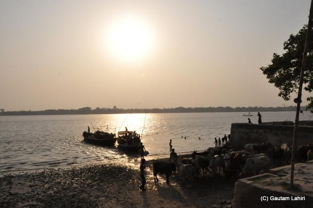 Seven kilometres away we visited the river Ganges at Bawali Rajbari, Kolkata, West Bengal, India by Gautam Lahiri