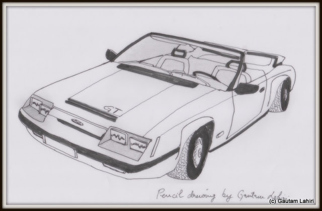 Ford Mustang GTi, drawn by Gautam Lahiri