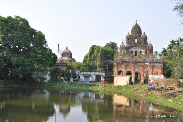 There were two temple complexes beside the parking area and they were in extreme state of disrepair. at Bawali Rajbari, Kolkata, West Bengal, India by Gautam Lahiri