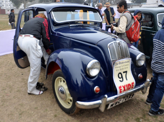 1948 Morris 8 was a successful car in India, especially in Bengal, with middle-class families for her frugal petrol sipping behavior  at Kolkata, West Bengal, India by Gautam Lahiri