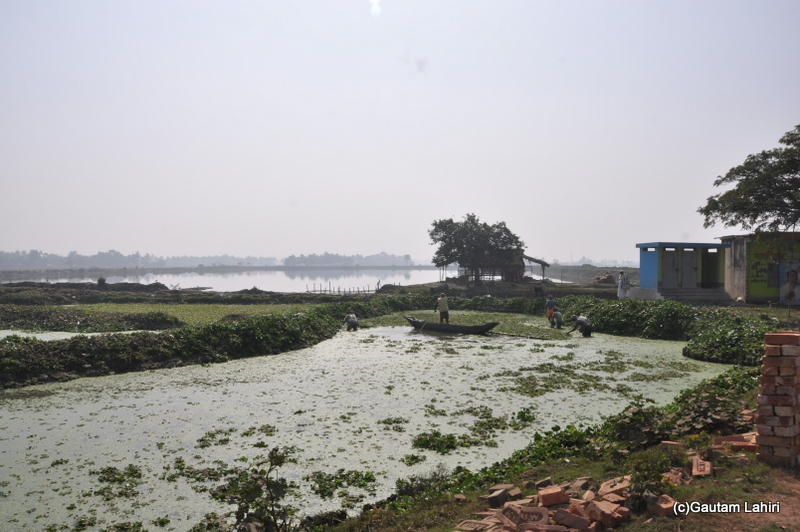 Brick kilns and water lakes on the road from Kolkata to Chandraketugarh. taken by Gautam Lahiri