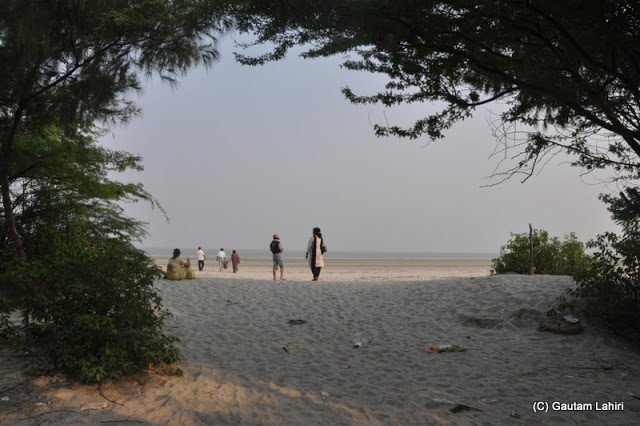 At Henry Island, Bakkhali beach, West Bengal, India near Bay of Bengal by Gautam Lahiri