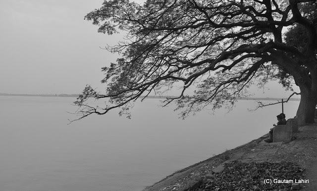 Gadiara river bank beside the mighty Rupnarayan in Hooghly, West Bengal, India by Gautam Lahiri