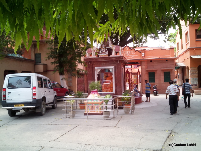At Gaya, The BSS entrance had parking place for the visitors to park their vehicles. A small passage on the right let everyone enter the main complex by Gautam Lahiri