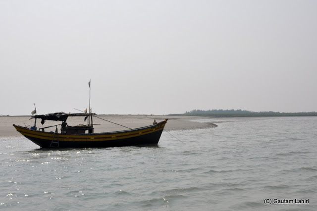 Jambudwip in Bay of Bengal at Frasergunj, Bakkhali beach, West Bengal, India near Bay of Bengal by Gautam Lahiri