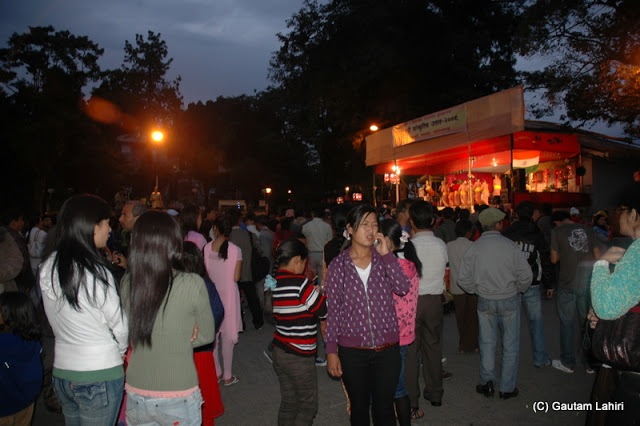 The crowd enjoying the Mall...the area remains filled with revelers even till 9 pm in the night  at Darjeeling, West Bengal, India by Gautam Lahiri
