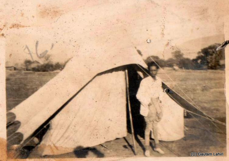 The doctor's tent which served as the medical examination center at the Aravalli hills in Rajastha, India by Gautam Lahiri
