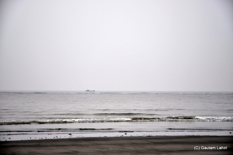 Bay of Bengal at Henry Island, Bakkhali beach, West Bengal, India near Bay of Bengal by Gautam Lahiri