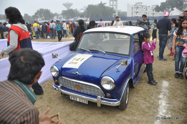 The British built iconic 1963 Austin Mini Cooper, which revolutionized the automotive world with its transverse engine was making waves with the youngsters  at Kolkata, West Bengal, India by Gautam Lahiri