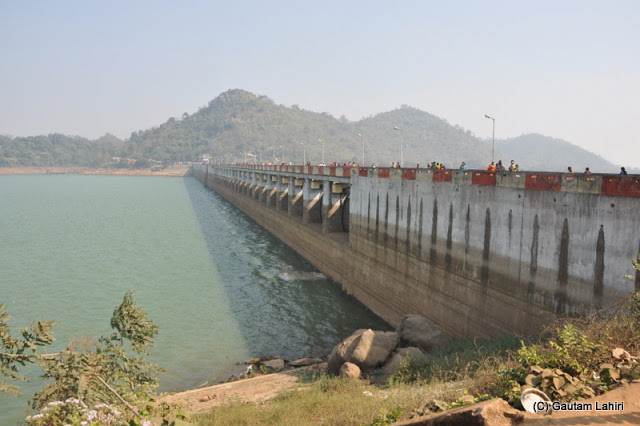 The dam stands like a sentinel across the river  at Massanjore, Jharkhand, India by Gautam Lahiri