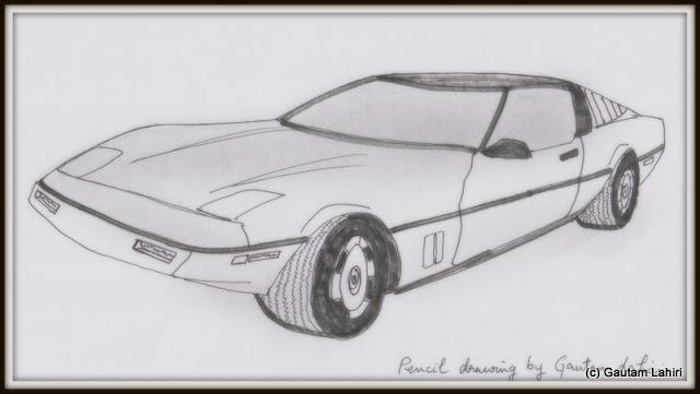Chevrolet Corvette, drawn by Gautam Lahiri