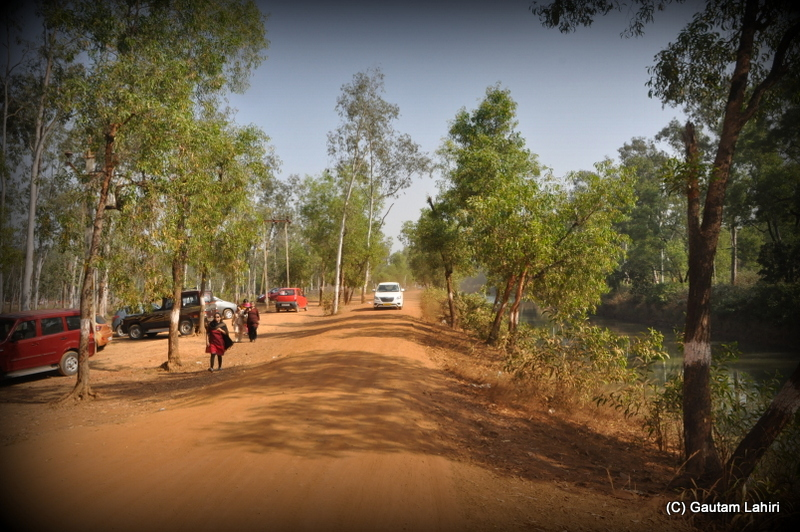 The orange laterite road of Khoai at Santiniketan, West Bengal, India by Gautam Lahiri