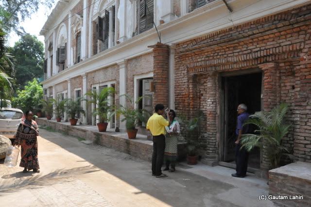 Rajbari entrance embellished with bricks welcomes the visitor at Bawali Rajbari, Kolkata, West Bengal, India by Gautam Lahiri