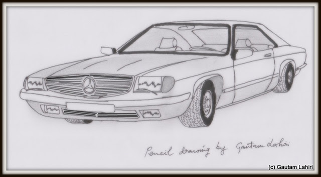 Mercedes Benz 380 SEC, drawn by Gautam Lahiri