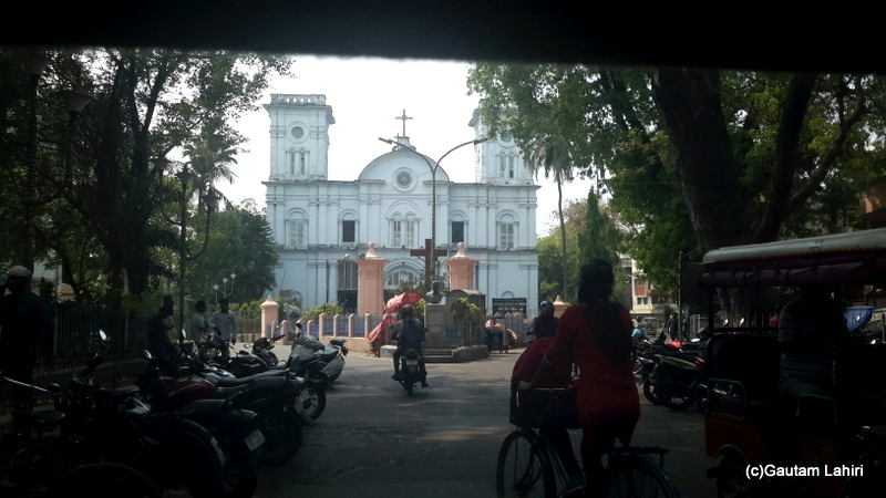 The entrance to the Sacred Heart Church through the trees in Chandannagar by Gautam Lahiri