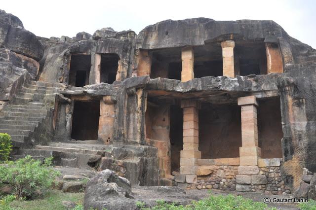 Udayagiri caves still holding itself, built more than 2000 years ago  at Bhubaneshwar, Odissa, India by Gautam Lahiri