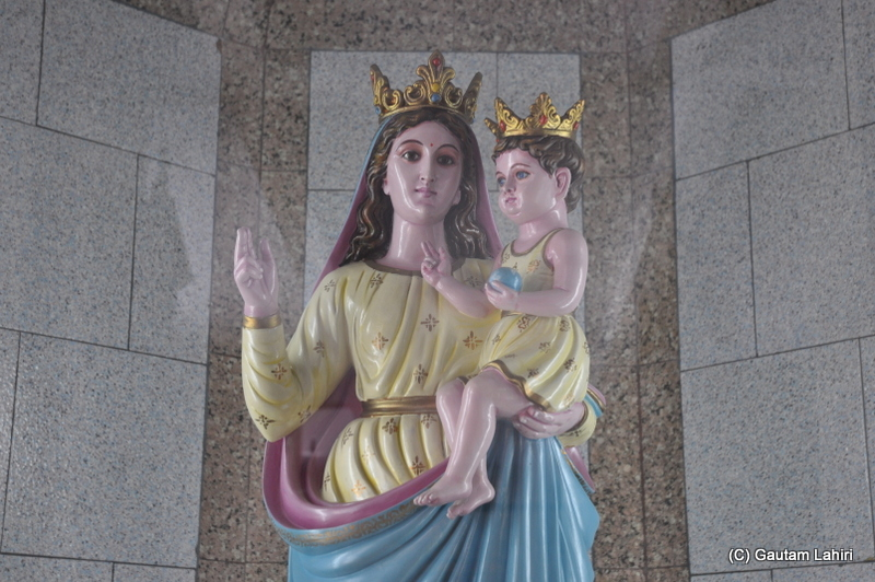 Nossa Senhora do Rosario, Our Lady of Rosary at Bandel Church, Hooghly, West Bengal, India by Gautam Lahiri