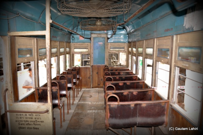 The first class compartment of a Calcutta Tramways Tram by Gautam Lahiri at Kolkata, West Bengal, India
