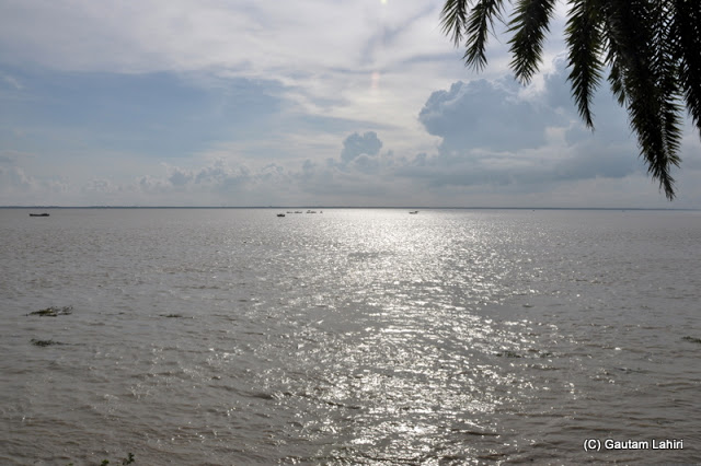 Hooghly river turning blue as the sun advanced towards the west at Diamond Harbor, West Bengal, India by Gautam Lahiri