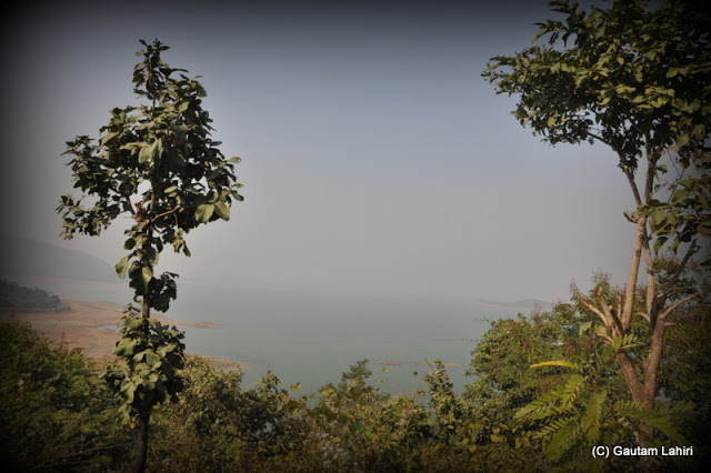 The south face view of the vast water body  at Massanjore, Jharkhand, India by Gautam Lahiri