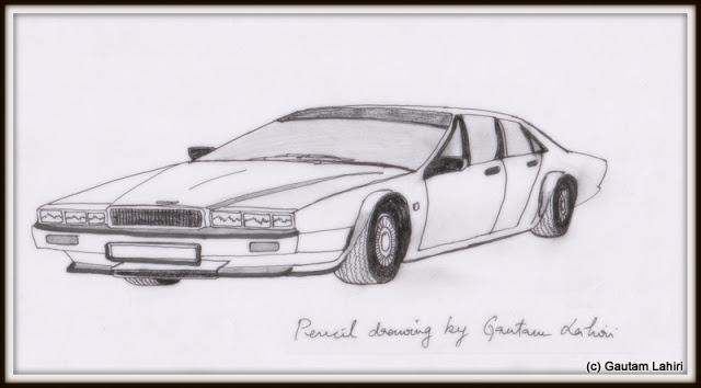 Aston Martin Lagonda, drawn by Gautam Lahiri