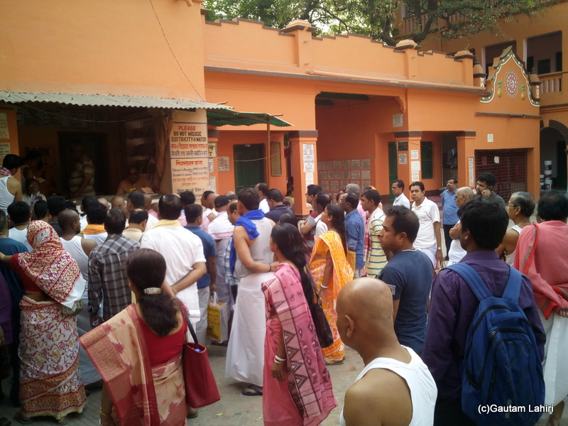 At Gaya, With every passing minute, the crowd started increasing, a section of the people was lead off to the other side on to the waiting auto rickshaws for the next step by Gautam Lahiri