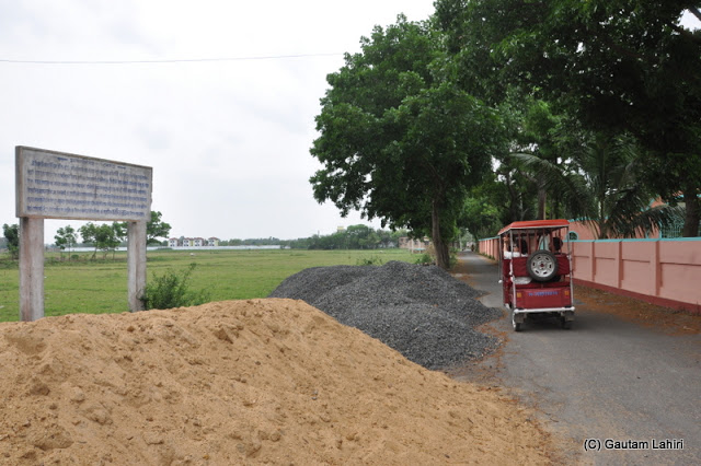 The road which was used by Mansingh's army as they chased King Pratapaditya and his men during the Mughal campaign at Taki, West Bengal, India by Gautam Lahiri