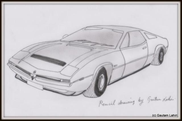 Maserati Merak SS, drawn by Gautam Lahiri