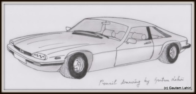 Jaguar XJ-S HE, drawn by Gautam Lahiri