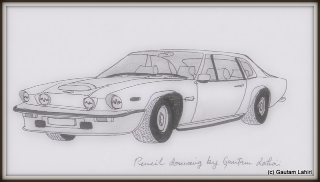 Aston Martin Vantage, drawn by Gautam Lahiri