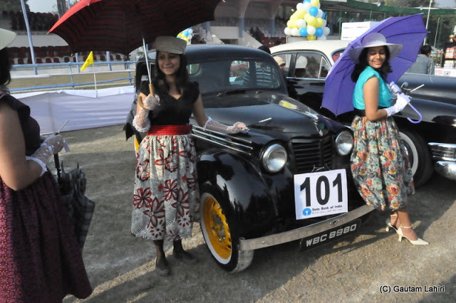The 1949 Renault gets young company to cheer about  at Kolkata, West Bengal, India by Gautam Lahiri