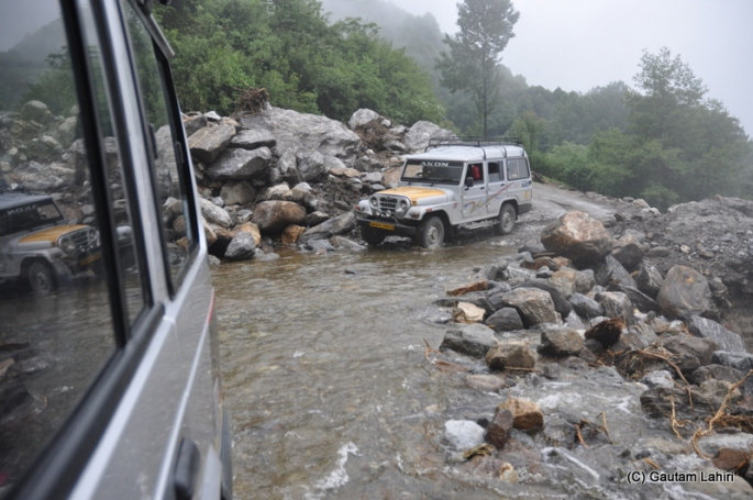 At the Yumthang Valley, Sikkim, India in a Tata Sumo by Gautam Lahiri