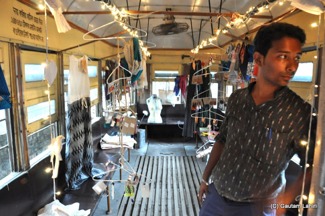 A Calcutta Tramways decorated tram parked at Ballygunge tram terminus, Kolkata, West Bengal, India by Gautam Lahiri