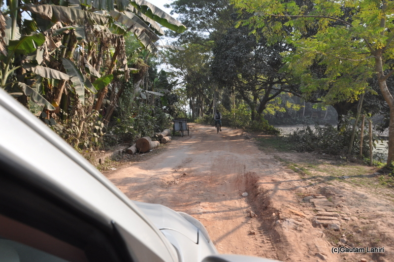 Broken roads around the ancient relics at Chandraketugarh, taken by Gautam Lahiri