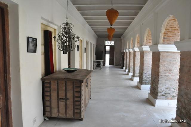 Elegant corridors of a palace resurrected from the dust at Bawali Rajbari, Kolkata, West Bengal, India by Gautam Lahiri