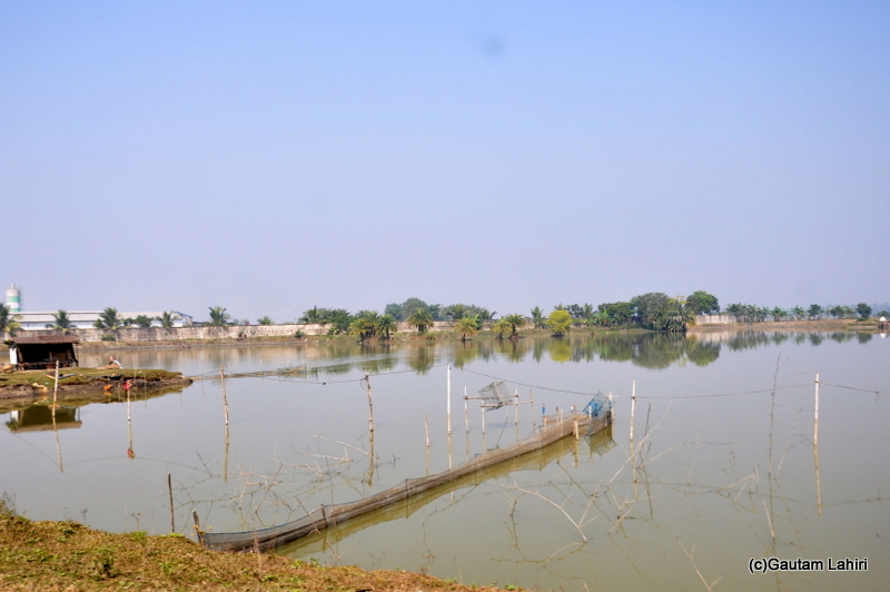 Water lakes on the road from Kolkata to Chandraketugarh taken by Gautam Lahiri