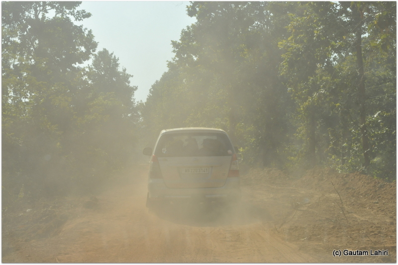 A team of nine-headed first and we followed the leader. Turn back or make adjustments at the slightest danger at Joypur jungle, Bankura by Gautam Lahiri