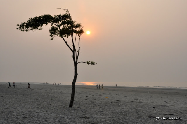 At Bakkhali beach, West Bengal, India near Bay of Bengal by Gautam Lahiri