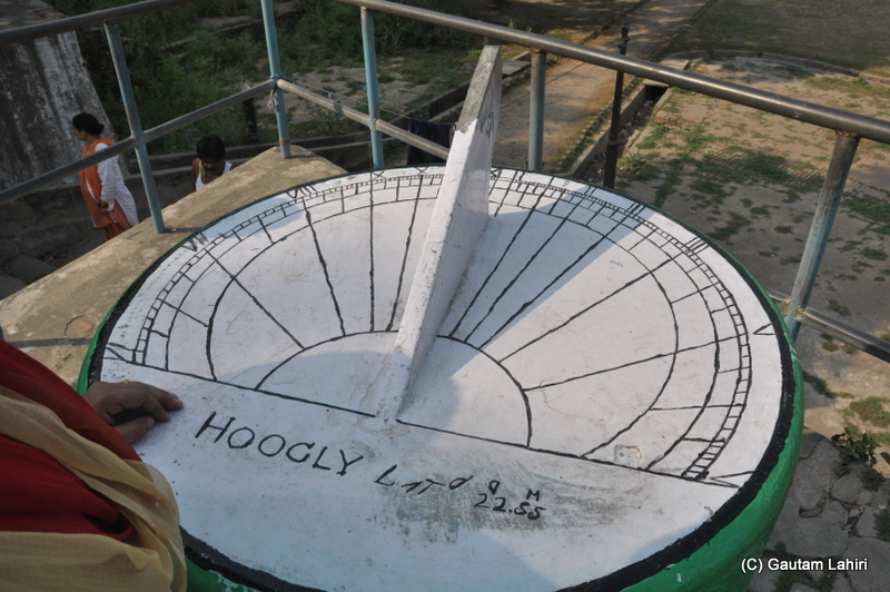 The Sundial at Bandel Imambara, on the banks of Hooghly river at Bandel, West Bengal, India by Gautam Lahiri