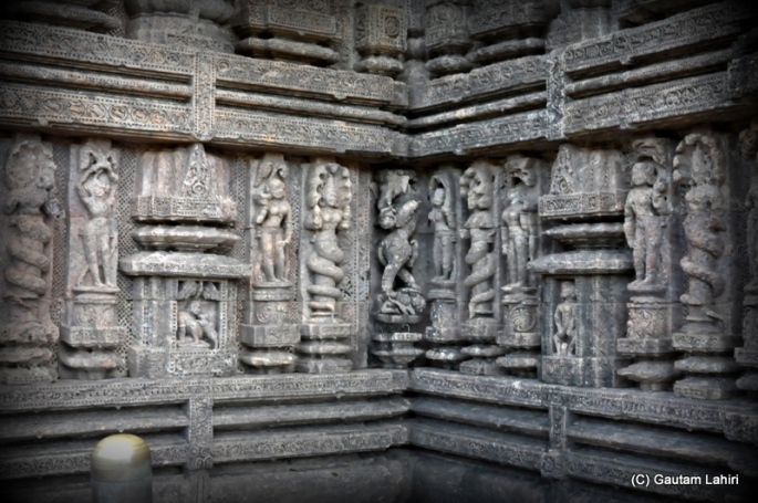 The brilliant rock carvings continue on with great detail on every single square inch of this great structure  at Puri, Odisha, India by Gautam Lahiri