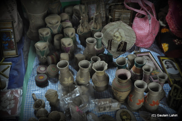 An abundance of jute products at posh mela at Santiniketan, West Bengal, India by Gautam Lahiri