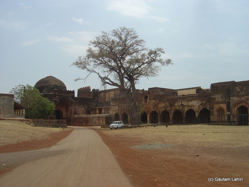 Tarkash mahal stood at the edge of a huge ground. The far away dome was one of the entrances to the Bidar fort by Gautam Lahiri