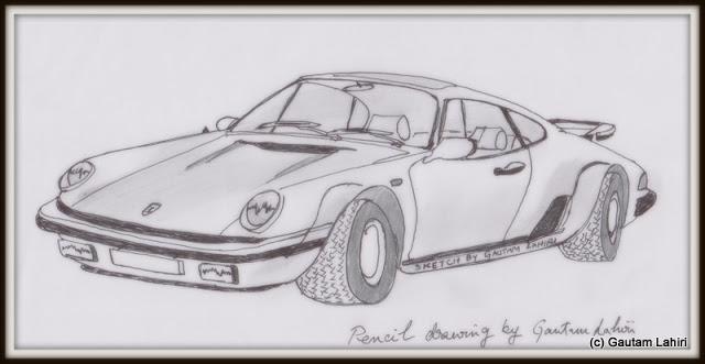 Porsche 911 Carrera, drawn by Gautam Lahiri